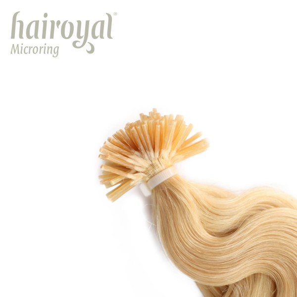 Hairoyal Microring-Extensions #20 wavy (very light ultra blonde)