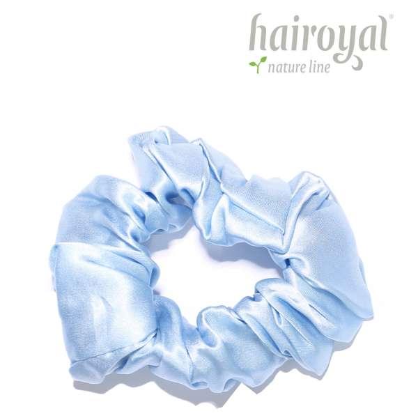 Scrunchie (100 % Maulbeerseide) - Medium/Large - Light Blue
