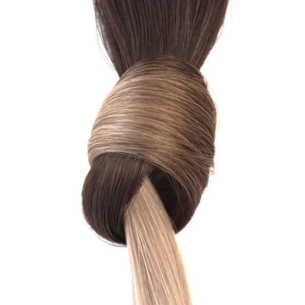 she by SO.CAP. Extensions #T2/60 - 40/45 cm (darkbrown/ light blonde ash)
