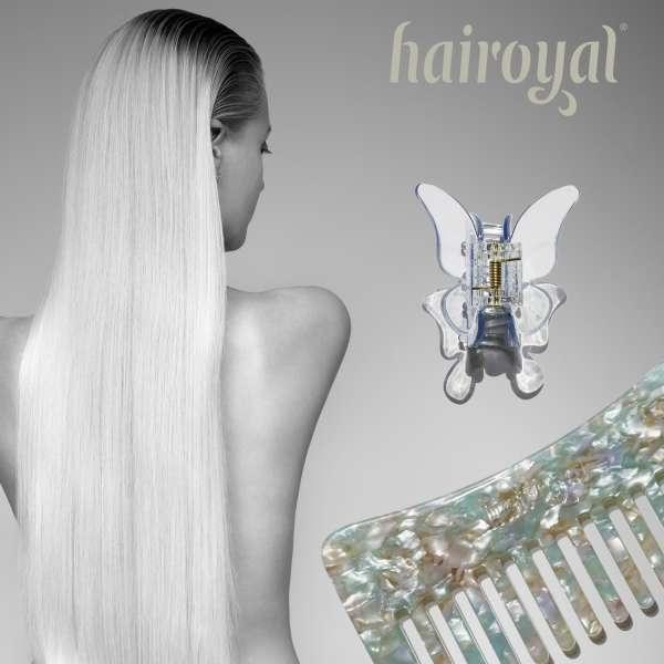 Set Haircomb rough & XL Butterfly Clip #mermaid-turchese-crystal