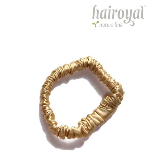 Scrunchie (100 % mullberry silk) - small - Gold