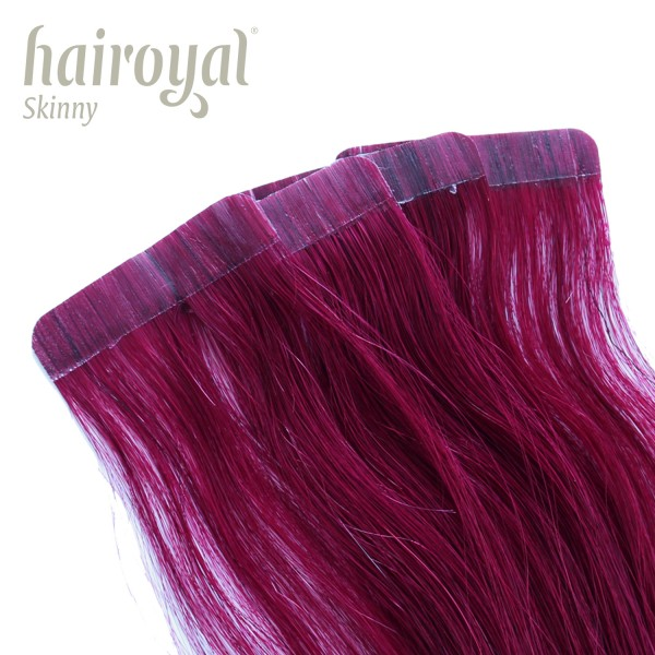 Hairoyal Skinny's - Tape Extensions straight #Bordeaux