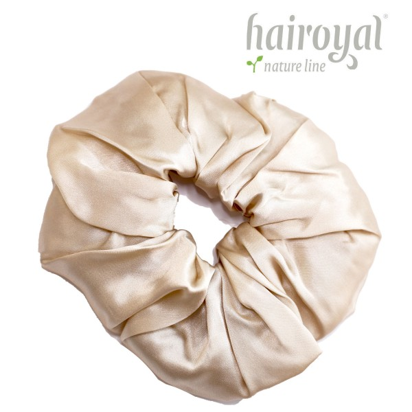 Scrunchie (100 % Maulbeerseide) - XLarge - Champagner
