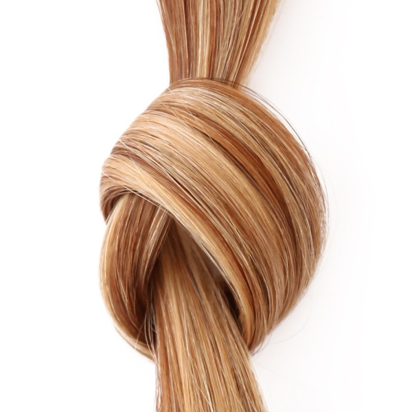 she by SO.CAP. Extensions #12/26 - 50/60 cm glatt bicolour (golden blonde/light golden blonde)