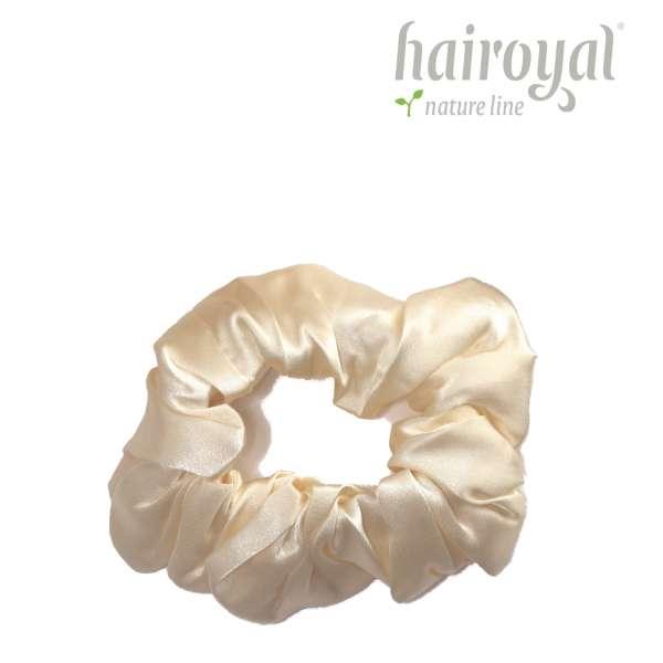 Scrunchie (100 % Maulbeerseide) - Medium/Large - Yellow