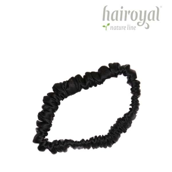 Scrunchie (100 % mullberry silk) - small - Black