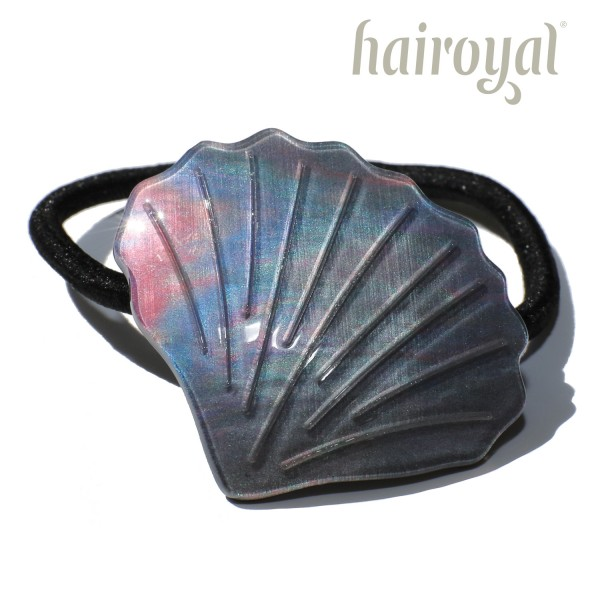 Hairoyal hairtie seashell #pearl gray