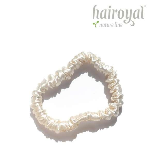 Scrunchie (100 % Maulbeerseide) - Small - Cream