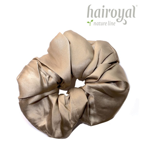 Scrunchie (100 % Maulbeerseide) - XLarge - Taupe