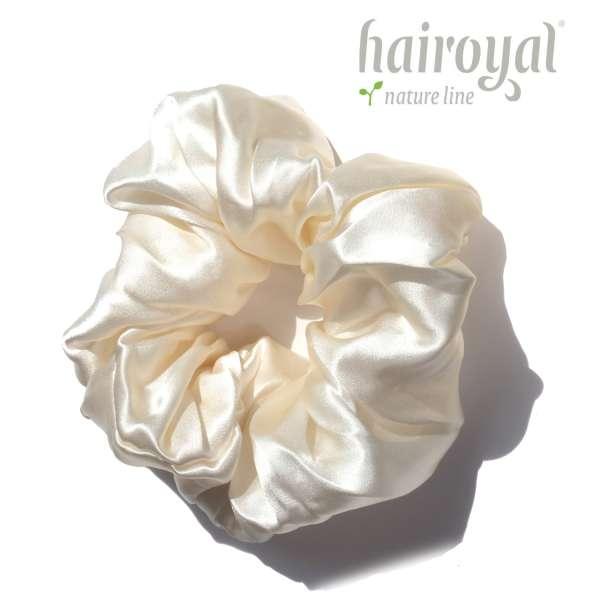 Scrunchie (100 % Maulbeerseide) - XLarge - Cream