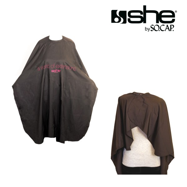 she by SO.CAP. Hairdressing Cape black and white