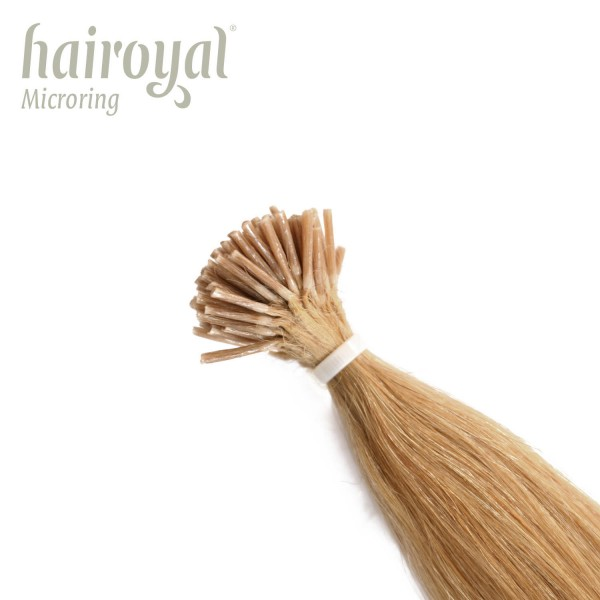 Hairoyal Microring-Extensions #24 straight (very light blonde)
