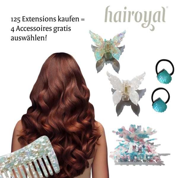 125 Basic Extensions 40 cm wavy + free hair accessoires set