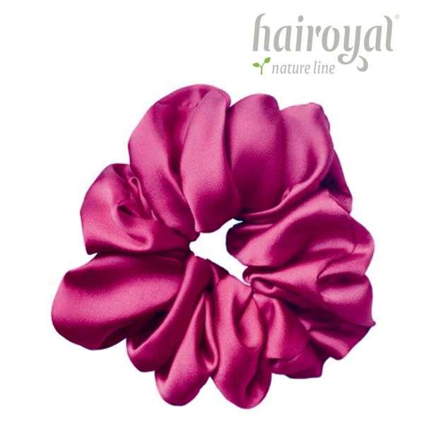 Scrunchie (100 % mullberry silk) - large - fuchsia