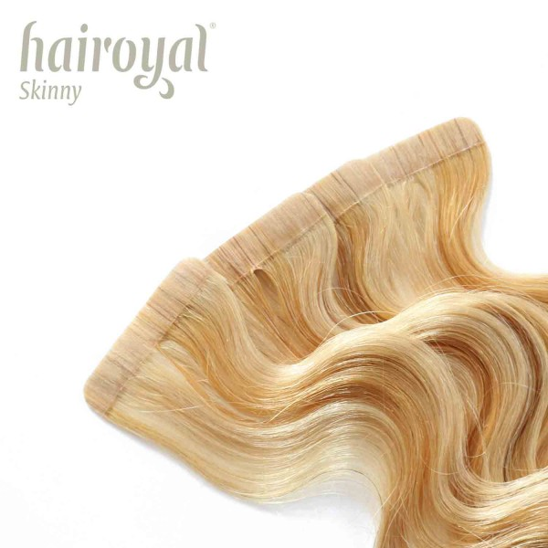 Hairoyal Skinny's - Tape Extensions wavy #140 (very light ultra blonde/ golden blonde)