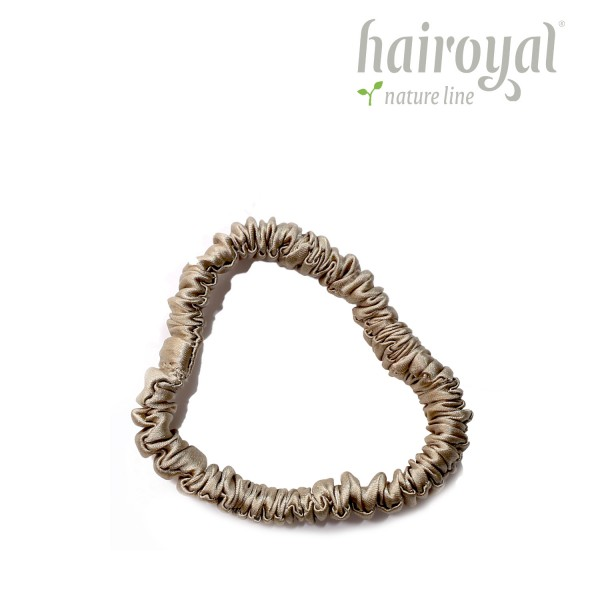 Scrunchie (100 % Maulbeerseide) - Small - Taupe