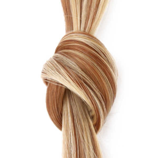 she by SO.CAP. Extensions #14/1001 - 35/40 cm wavy bicolour (light blonde/platinum blonde)