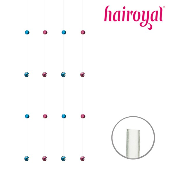 Hairoyal Crystals at a nylon cord