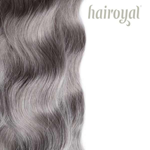 Hairoyal luxury line 50 cm #metalgray wavy
