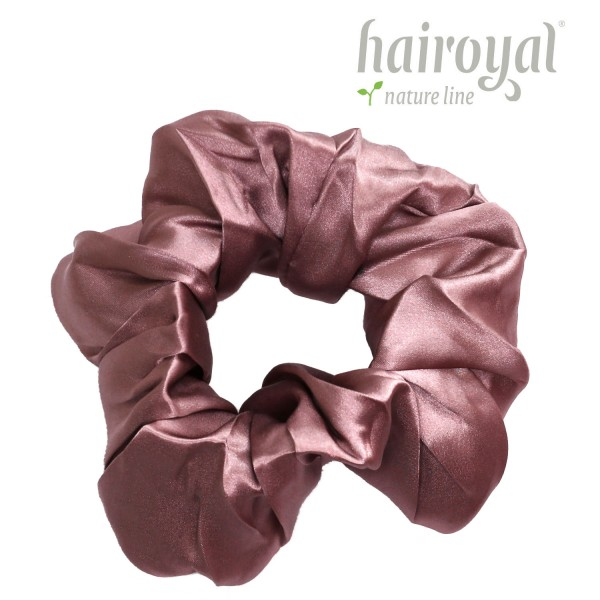 Scrunchie (100 % mullberry silk) - large - rosé