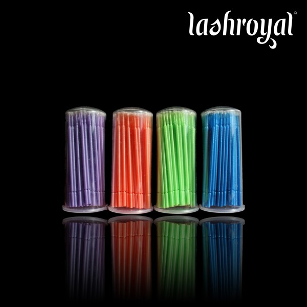 Lashroyal Micro Brushes to remove - 100 Pieces in storage pack