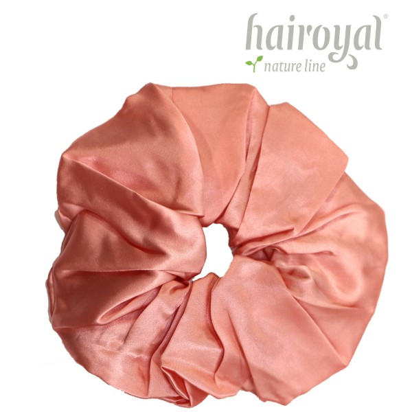 Scrunchie (100 % Maulbeerseide) - XLarge - Apricot