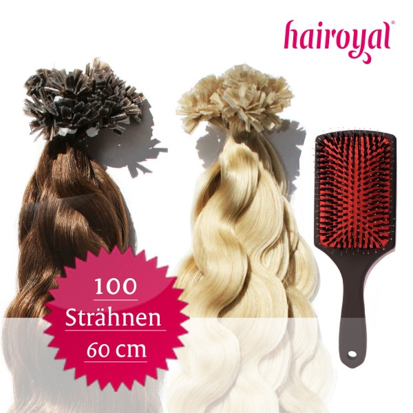 100 Extensions of Hairoyal (wavy) + Professional Extensions Brush