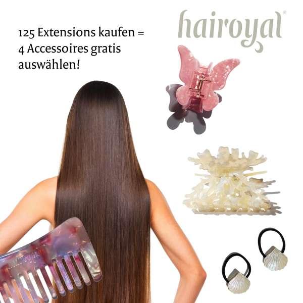 125 Basis Extensions 40 cm glatt + Gratis Haarschmuck-Set