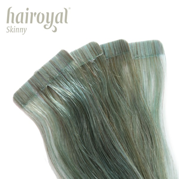 Hairoyal Skinny's - Tape Extensions straight #Petrol