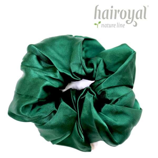 Scrunchie (100 % Maulbeerseide) - XLarge - Dark Green