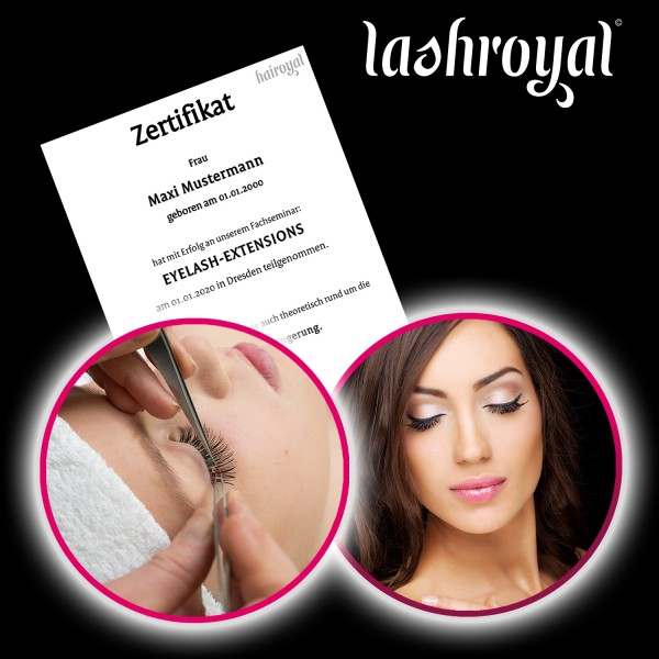 Hairoyal® Training for a professional Stylist of Eyelash Extensions