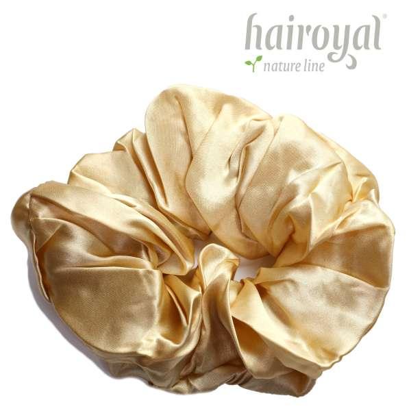 Scrunchie (100 % Maulbeerseide) - XLarge - Gold