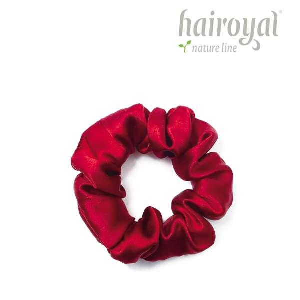 Scrunchie (100 % mullberry silk) - medium - ruby