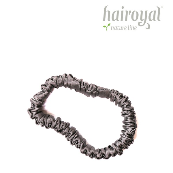 Scrunchie (100 % Maulbeerseide) - Small - Anthrazite