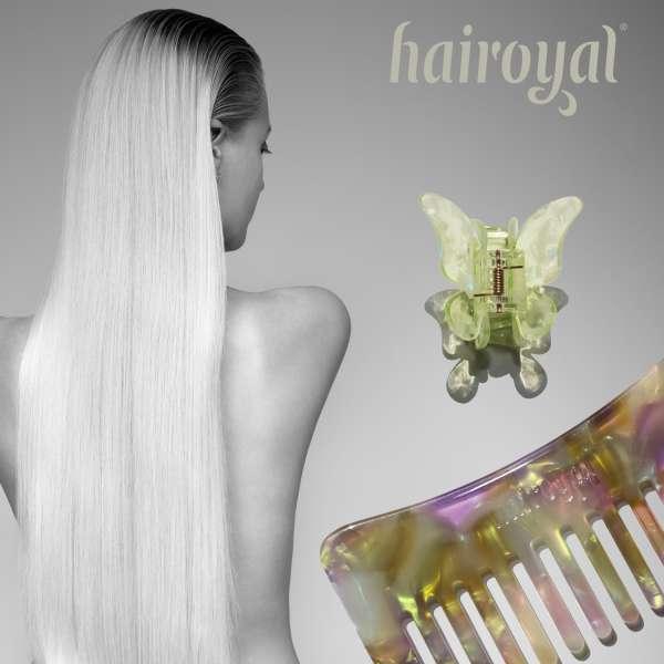 Set Strähnenkamm & XL Schmetterling Haarklammer #pastel-shade-pistachio