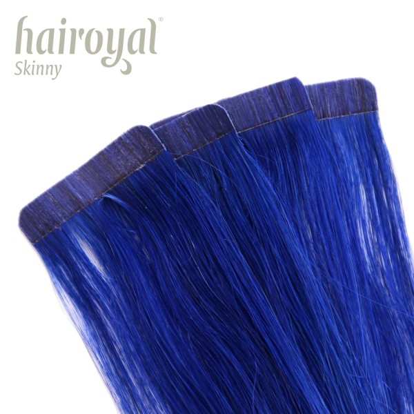 Hairoyal Skinny's - Tape Extensions straight #Blue