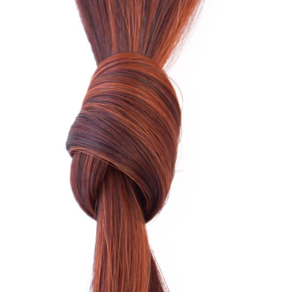 she by SO.CAP. Tresse #32/130 glatt bicolour (light mahagony chestnut/light copper blonde)