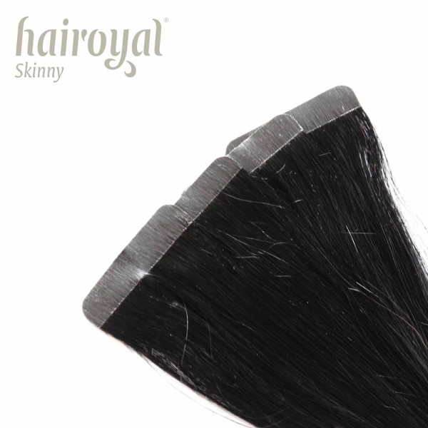 Hairoyal Skinny's - Tape Extensions straight #1b (off black)