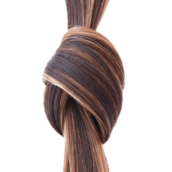 she by SO.CAP. Extensions #2/17 - 50/60 cm wavy bicolour (dark chestnut/medium blonde)