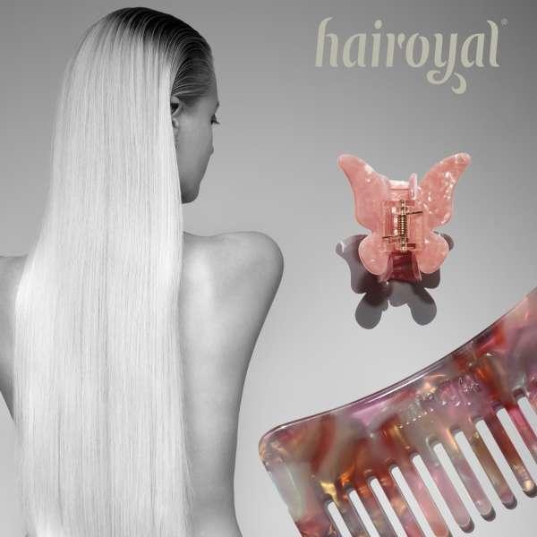Set Strähnenkamm & XL Schmetterling Haarklammer #pastel-shade-pearl-rosé