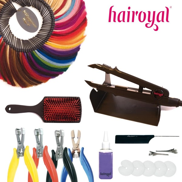 Hairoyal Starterset with Heating Clamp and big Colour Ring