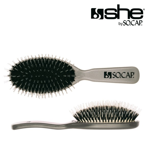 she by SO.CAP. Professional Extensions Brush big - silver